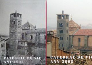 Catedral de Vic - Any 1945 i 2008 - Autor: CAÑELLAS, Miquel S.