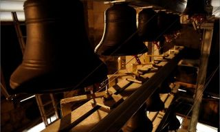 'The minster has 35 bells in a carillon – a set of bells played from an organ or similar instrument. It is the first cathedral in England to have this system. Photograph: Christopher Thomond for the Guardian'