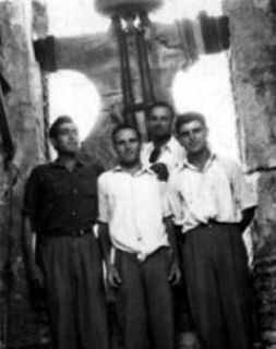 Vicent Botella, Vicent Borràs, Josep Roses i Vicente Llopis. 1954